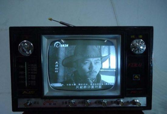 上个世纪70年代飞鹿牌晶体管黑白电视机
