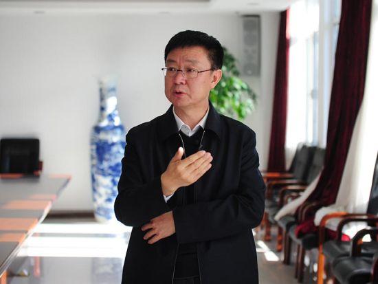 北大壶开发区党工委书记、管委会主任付广祥接受中新网记者专访 刘栋 摄