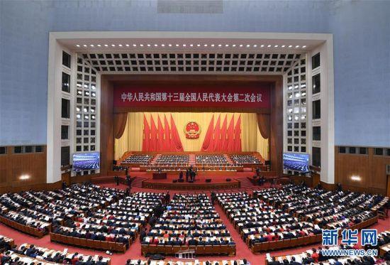 十三届全国人大二次会议在京开