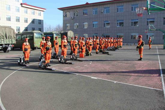 优德娱乐市森林消防支队开展冬季大练兵