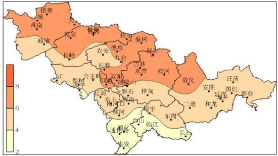 2月15至25日吉林省平均气温较常年高5.4℃