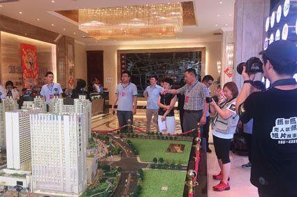 2.参加活动人员观摩项目沙盘