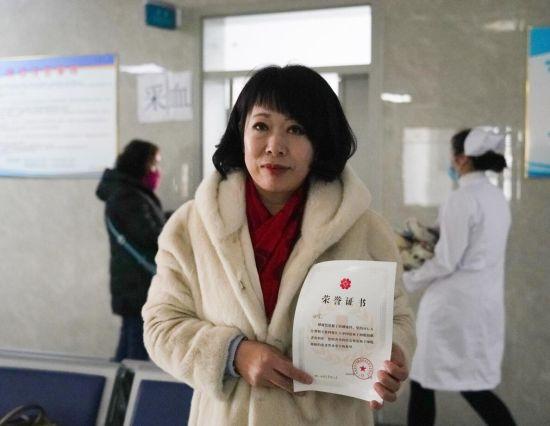 志愿者田宏完成了血样检测,相关数据录入国家造血干细胞捐献者资料库。潘晟昱 摄