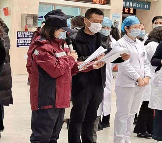 2月3日在大安市第一人民医院组织应急演练
