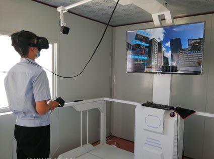 中国二十二冶固安垃圾焚烧发电厂项目员工进行可视化VR安全教育系统体验