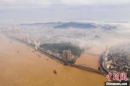 6月8日上午的梧州鸳鸯江。 何华文 摄