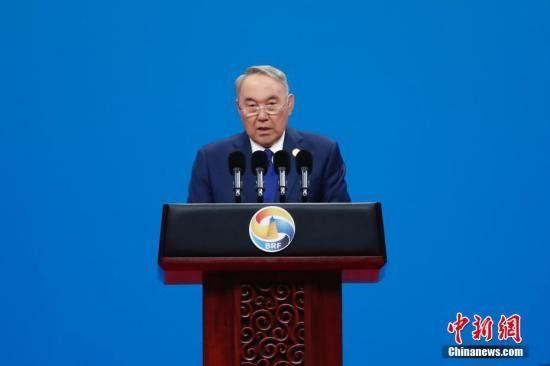 资料图:哈萨克斯坦前总统纳扎尔巴耶夫。中新社记者 盛佳鹏 摄