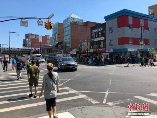 资料图:美国纽约街头。中新社记者 马德林 摄