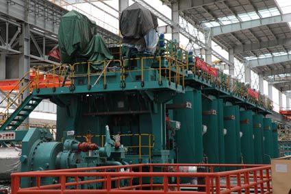 唐山瑞丰钢铁项目轧钢区域精轧区设备安装