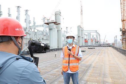 项目人员介绍唐山瑞丰项目炼钢区域工程情况
