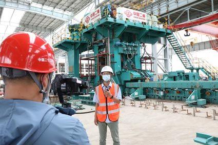 项目人员介绍唐山瑞丰项目轧钢区域工程情况