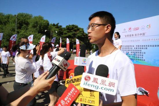 运营总监孔凡瑶接受媒体采访