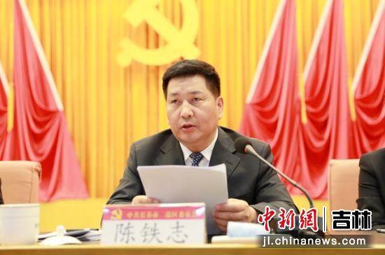 二道区长陈铁志作工作说明 二道区委宣传部/供图