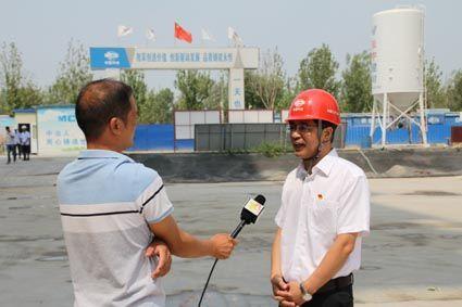 中国二十二冶副总经理孟凡斌接受邢台广播电视台采访