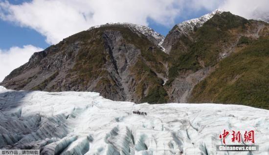 资料图:新西兰冰川。