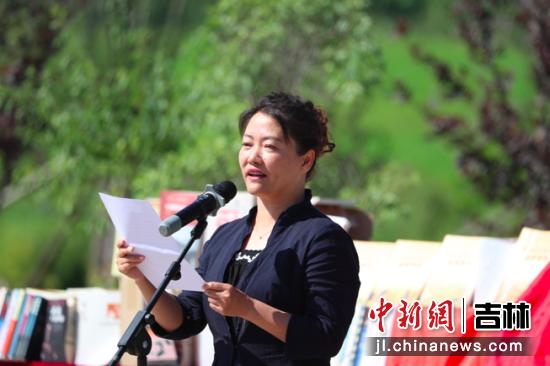 长春净月高新区党工委宣传部部长于励致辞。净月高新区党工委宣传部/供图