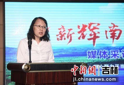 在启动仪式上,吉林省辉南县委常委、宣传部长于滨致辞。中国吉林网/供图