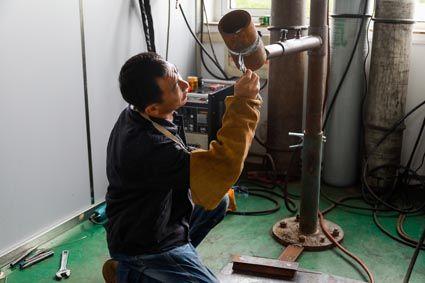 第十九届唐山市职工职业技能大赛电焊工比赛实操比赛现场