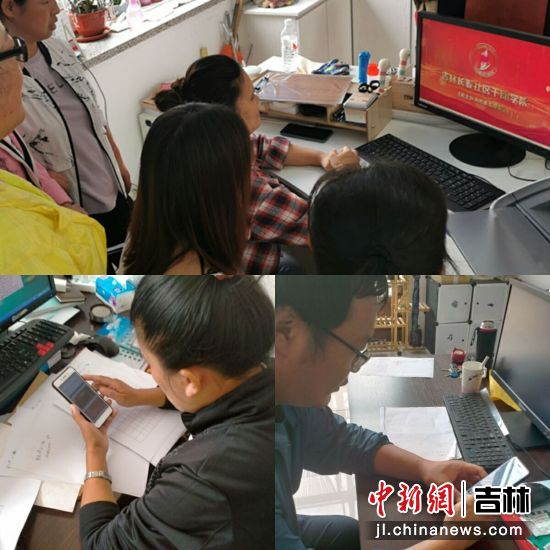 社区工作者开展学习 胜利街道/供图