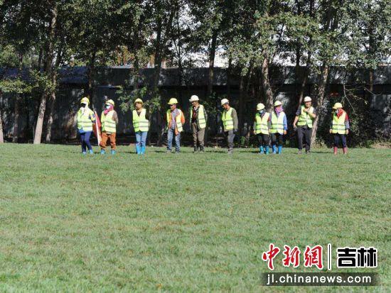 工人正在对绿化进行探查 刘栋/摄