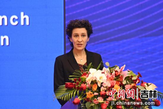 法国驻沈阳总领事安澜致辞 吉林省商务厅供图