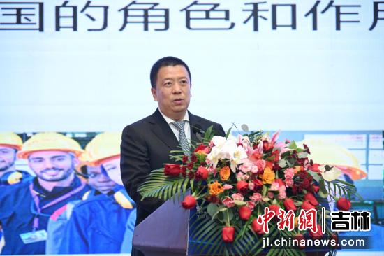 联合国工发组织投资和技术促进技术办公室主任武雅斌发表演讲 吉林省商务厅供图