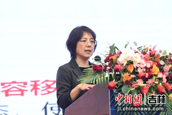 中国长城科技集团股份有限公司副总裁谷红发表演讲 吉林省商务厅供图