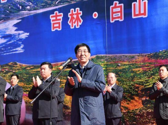 10月18日,沈白高铁控制工程开工建设活动在白山举行,吉林省委书记巴音朝鲁出席并宣布沈白高铁控制工程正式开工