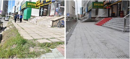梨花路施工前后对比图片