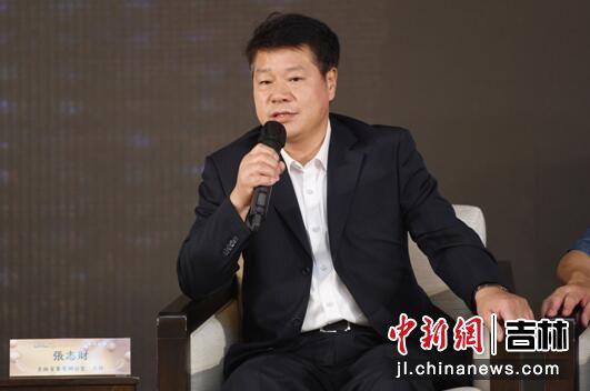 吉林省参茸办公室主任张志财介绍吉林省人参产业展情况。梁琪佳摄