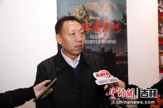 池南区委书记曹树清接受媒体采访 孟昭东/供图