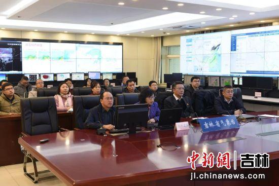 吉林省气象局早会商调度部署(摄影:刘明奇)