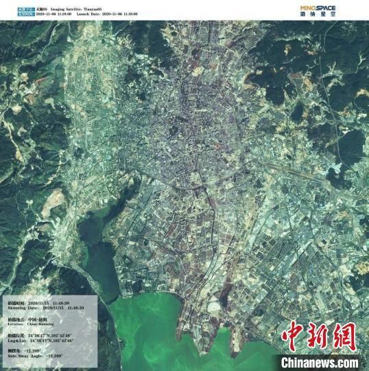 图为该卫星拍摄的中国昆明。中关村管委会供图