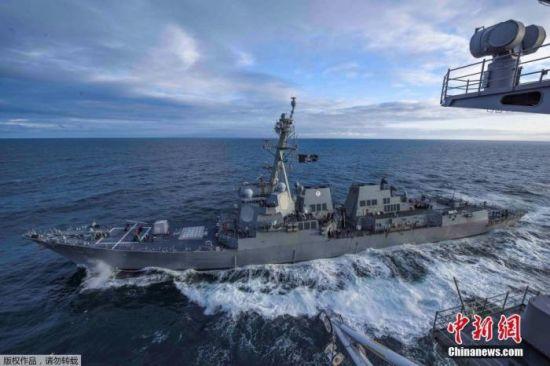 资料图:美国海军驱逐舰。