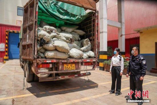 资料图:海关销毁固体废弃物垃圾。中新社记者 陈冠言 摄