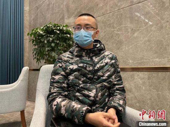 司道远接受记者采访 苍雁 摄