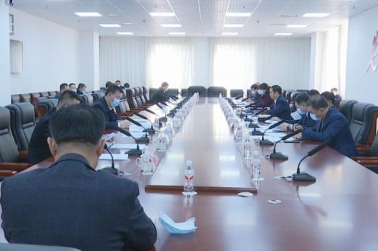 图为中共磐石市委召开2021年第6次常委(扩大)会议现场